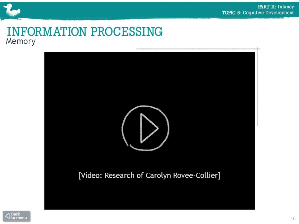 [Video: Research of Carolyn Rovee-Collier]